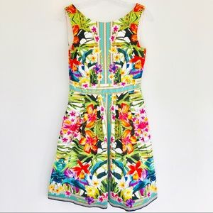 MAGGY LONDON Sleeveless Floral Print Dress Size 4